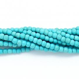 keramiek kraal 4mm turquoise - 30 stuks
