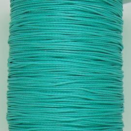 waxkoord 0,5 mm  1 meter kleur turquoise (no 129)