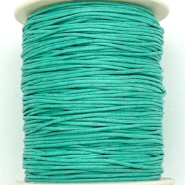 waxkoord 1mm  - 1 meter kleur turquoise (no. 251)