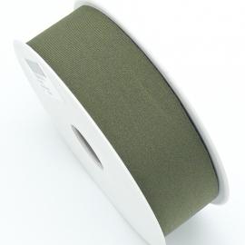 elastisch IBIZA lint 30mm breed - lenge 1 meter - kleur Olive Green (BIL30-09)