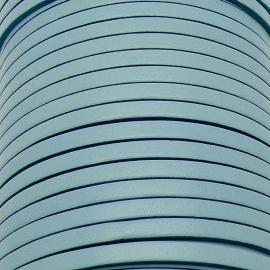 soepele lederen band smal 5mm - dik 2mm - kleur celeste - 20cm (PL05-034)