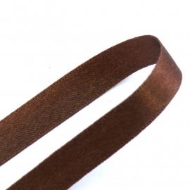 satijnlint 4mm breed 1m lang kleur donkerbruin