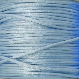 satijnkoord 2mm 5 meter kleur lichtblauw