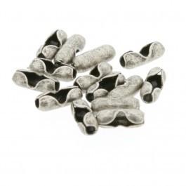 DQ ballchain mat antiek zilver slotje 1mm (M24213)