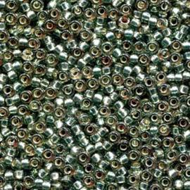 MR15-4274 Miyuki Rocailles 15/0 - 5 gram - kleur Dyed Frost Green