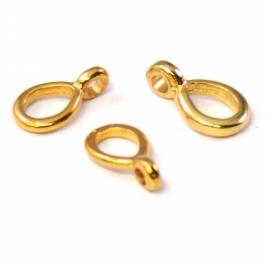 DQ metaal GOLD ring ovaal met oogje 7x12mm (B05-002-SG)