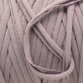 Gipsy koord - licht elastisch textielgaren - ongeveer 20mm breed - lengte 1m - kleur lilac taupe (GIPSY B-16)