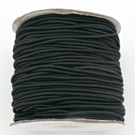 stoffen elastiek 2mm dik - kleur black - 2 meter