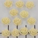 kraal roosje 9mm creme wit (BJ-21609-12b)