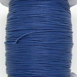 waxkoord 0,5 mm  1 meter kleur donkerblauw (no 123)