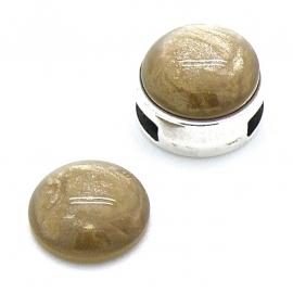 polariscabochon pearl 12mm - kleur almond (BK16241)