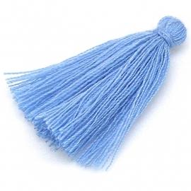kwastje satijn lengte circa 30mm kleur saphire blue (KW-30-015)