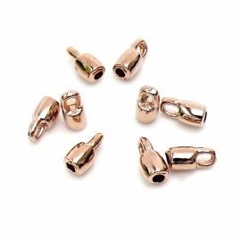 DQ metaal ROSE GOUD eindkap gat 2mm (B06-021-RG)