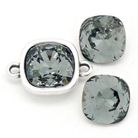 swarovski vierkante steen 4470 - 10mm - black diamond (BSSQ-002)