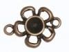 Dq metaal KOPER tussenzetsel bloem 20x30mm voor ss39 swarovskisteen