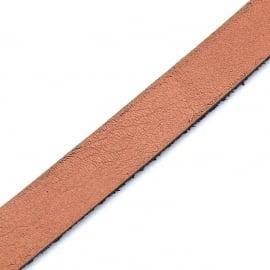 Basic leren band breed 10mm - 2,5 dik circa 100cm lang - kleur Orange/Peach (PL10-017)