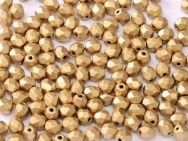 FPB 4mm col. 01710 - 50 kralen - kleur Aztec Gold