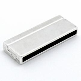DQ metaal magneetsluiting HIPPENAMA breed - maat 17x43mm - gat 3,3x40mm (B07-055-AS)