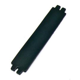 platte leerband 29mm breed kleur Zwart lengte 15cm (OL-32)