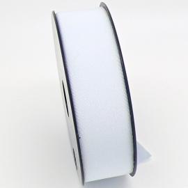 elastisch IBIZA lint 30mm breed - lenge 1 meter - kleur zilverwit (BIL30-04)