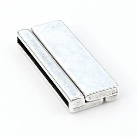 DQ metaal magneetsluiting breed -  maat 17x43mm - gat 2,5x40mm (B07-051-AS)
