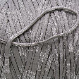 Gipsy koord - licht elastisch textielgaren - ongeveer 20mm breed - lengte 1m - kleur silver grey (GIPSY B-25)