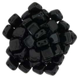 Czechmates Tile Bead maat 6mm - kleur Jet - 25 stuks