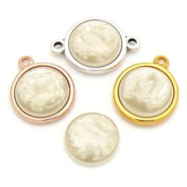 cabochon polaris pearl rond 20mm kleur Creme (CAB-20-011)