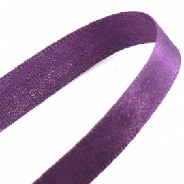 satijnlint 10mm breed 1m lang kleur paars