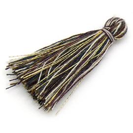 kwastje satijn lengte circa 30mm kleur capuccino melee (KW-30-031)