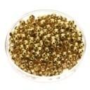 knijpkralen 2mm - kleur goldplated - 100 stuks
