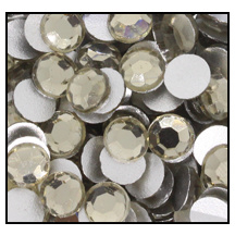Swarovski platte steen SS16 - kleur Black Diamond