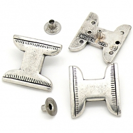 10-0147 concho met pin H-vorm 20x22mm
