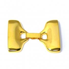 DQ metaal GOLD clipsluiting maat XXL gat 30x2,5mm (B07-004-SG)