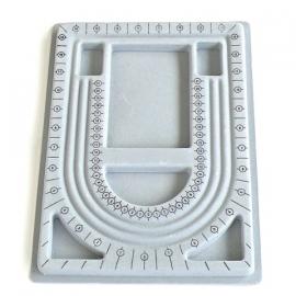 kralenbord met plastic cover - stevig en flocked - maat 23,5x35cm