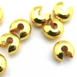 knijpkraalverberger goud 7mm (D03907) - 10 stuks