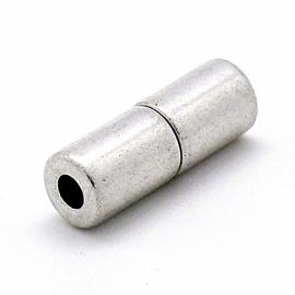 DQ metaal magneesluiting tube 8x17mm gat 3mm (B07-044-AS)