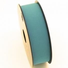 elastisch IBIZA lint 30mm breed - lenge 1 meter - kleur teal (BIL30-07)