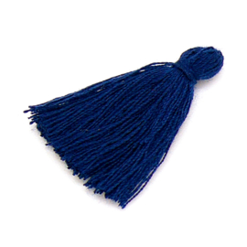kwastje satijn lengte circa 30mm kleur deep dark blue (KW-30-028)