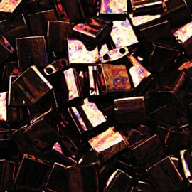 TL5-0457B Miyuki Tila 5x5mm - 5 gram - kleur Metalic Dark Raspberry Iris