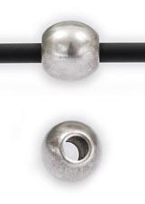 DQ metaal kraal rond 6mm - gat 2mm (B01-004-AS)