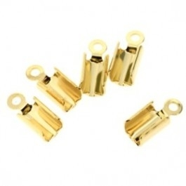 veterklem gpl goud metaal (12mm) 2/3veters (AB2298-2)