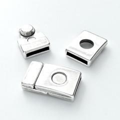 DQ metaal magneetsluiting voor 14mm breed leer (B07-054-AS)