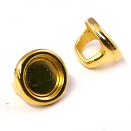 DQ metaal GOUD kraal REGALIZ voor cabochon 11,5mm - gat 8x10mm (B04-109-SG)