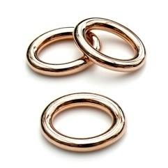 DQ metaal ROSE GOUD ovaal gesloten ring 24x30mm - binnenmaat 14x20mm (B05-028-RG)