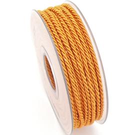 gedraaid koord 3mm dik - kleur orange - (KL304610) - lengte 2 meter
