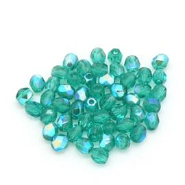 FPB 4mm col. X50730 - 50 kralen kleur Emerald AB