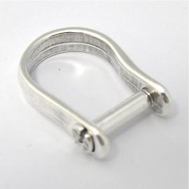 DQ metaal ring voor kraal 16mm (B08-003-AS) one size