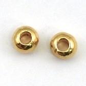 DQ metaal GOUD kraal 4x6mm - gat 2mm (B01-014-SG) - 10 stuks