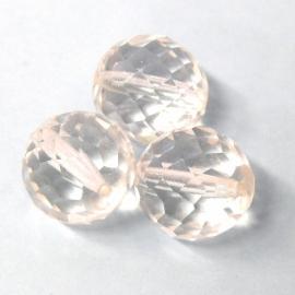 (BJW029) glaskraal crystal rond facet 16mm